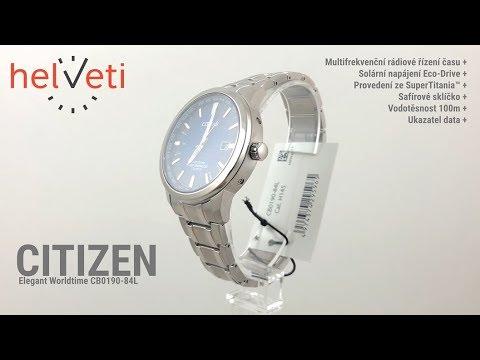 Citizen Elegant Worldtime Radio Controlled Titanium CB0190-84L