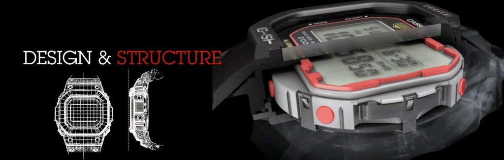 unikátní konstrukce hodinek Casio G-shock