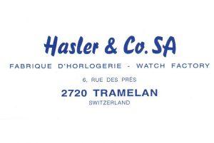 Hasler & Co. SA Fabrique DˇHorlogerie