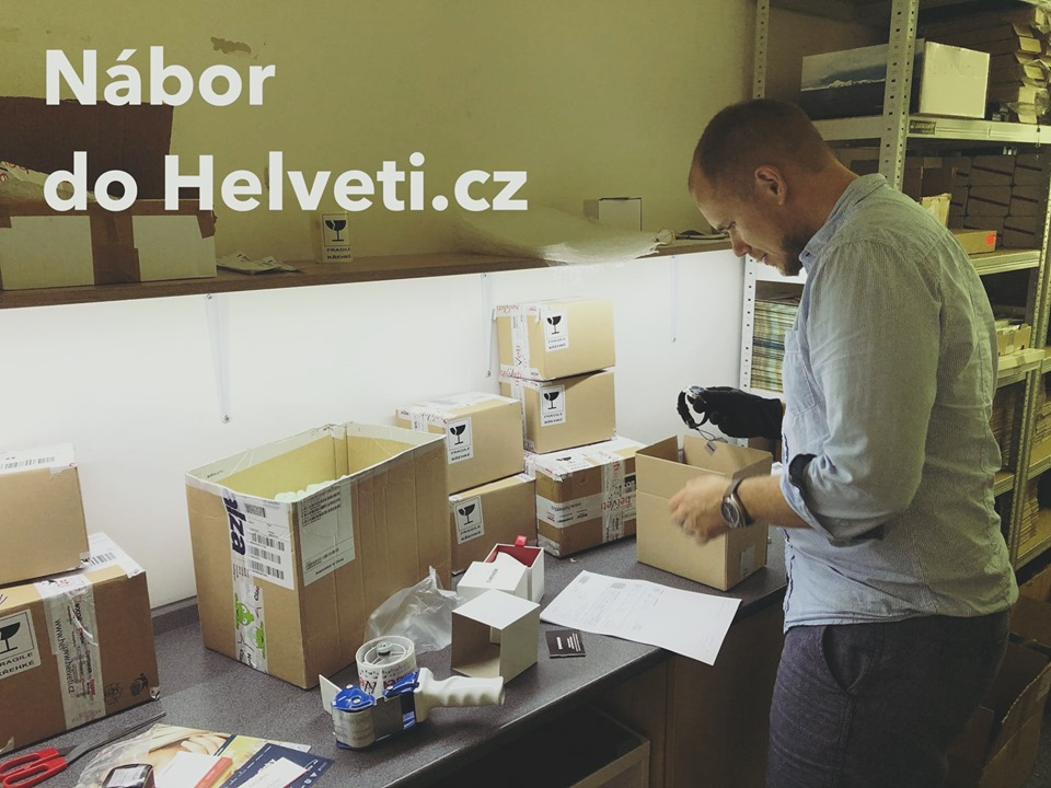Nábor do Helveti.cz - Situace je zoufalá, balíky expeduje i šéf Jirka :)