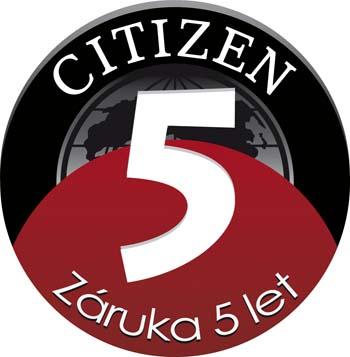 Citizen záruka 5 let